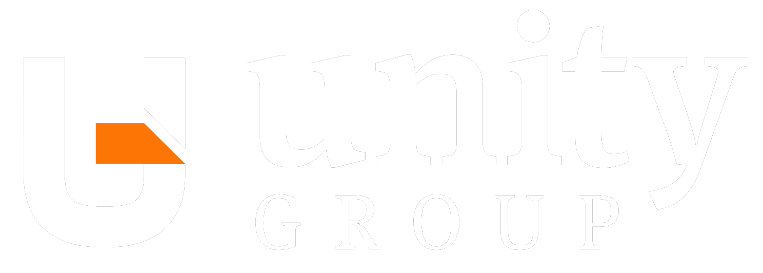 Unity Group white logo